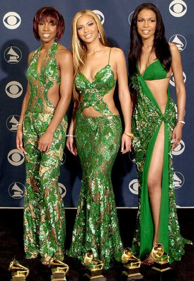 Beyonce - Destiny's Child - Tina Knowles - Wild Grammys Looks
