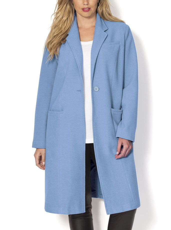 Roaman's Menswear Coat in Blue Cloud