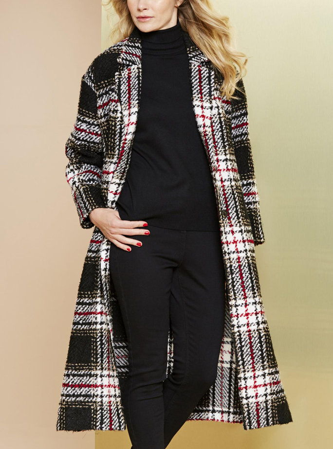 Απλά Be's Check Duster Coat