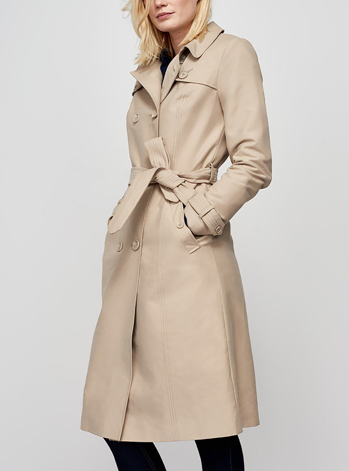 Μακρύς Tall Sally's Trench Coat in Stone