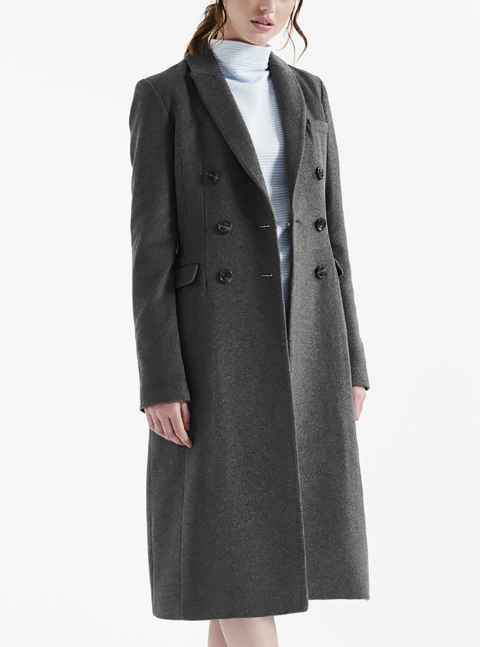 Μακρύς Tall Sally's Wool Rich Midi Coat