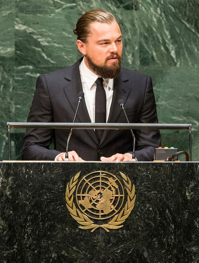 Στο the United Nations Climate Summit in New York City, 2014.