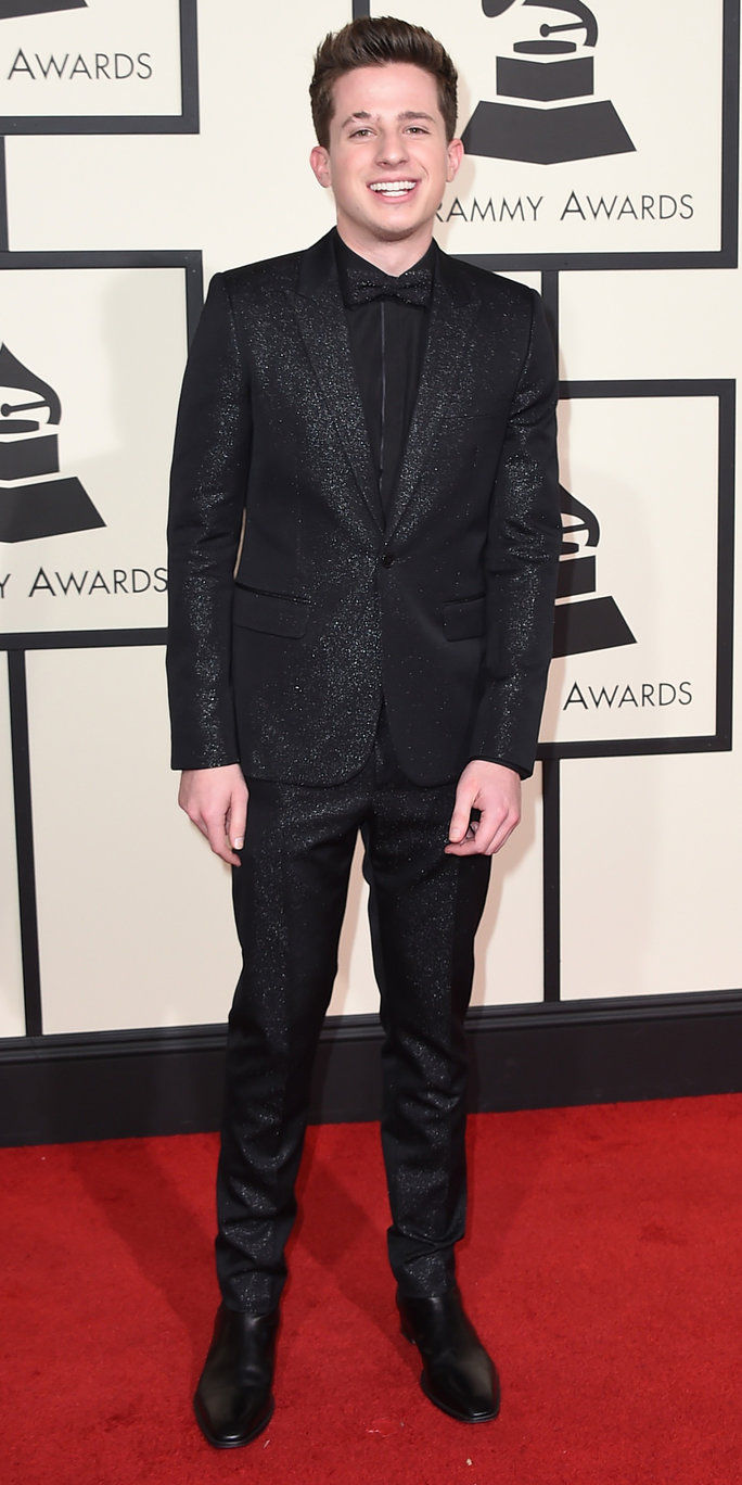Чарли Puth arrives at the 58th annual Grammy Awards at the Staples Center on Monday, Feb. 15, 2016, in Los Angeles. (Photo by Jordan Strauss/Invision/AP)