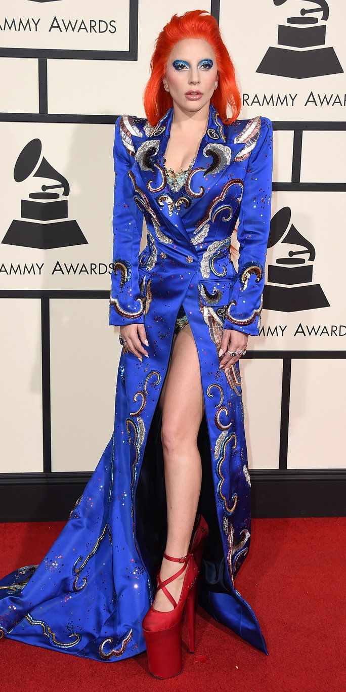 дама Gaga arrives at the 58th annual Grammy Awards at the Staples Center on Monday, Feb. 15, 2016, in Los Angeles. (Photo by Jordan Strauss/Invision/AP)