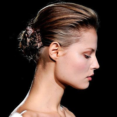 най-доброто Runway Hairstyles, Carolina Herrera, NY Fashion Week