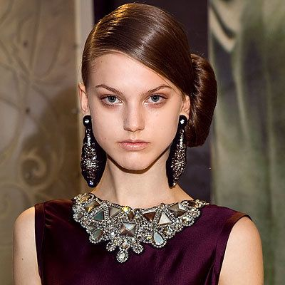 най-доброто Runway Hair, Reem Acra, NY Fashion Week