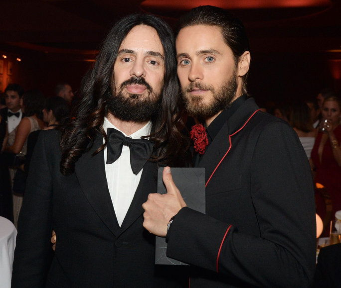 актьор Jerod Leto (R) attends the 88th Annual Academy Awards Governors Ball at Hollywood & Highland Center in Hollywood, California, on February 28, 2016.