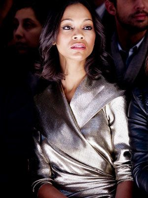 Милан Fashion Week - Zoe Saldana - Max Mara Show