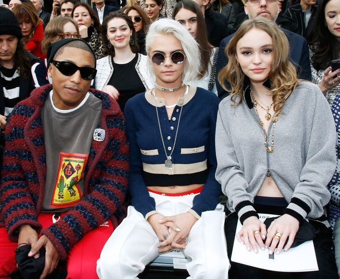 Pharrell Williams, Cara Delevingne, and Lily-Rose Depp