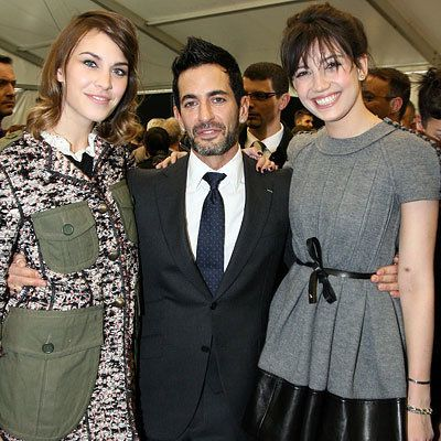 Париж Fashion Week - Alexa Chung, Marc Jacobs and Daisy Lowe - Louis Vuitton