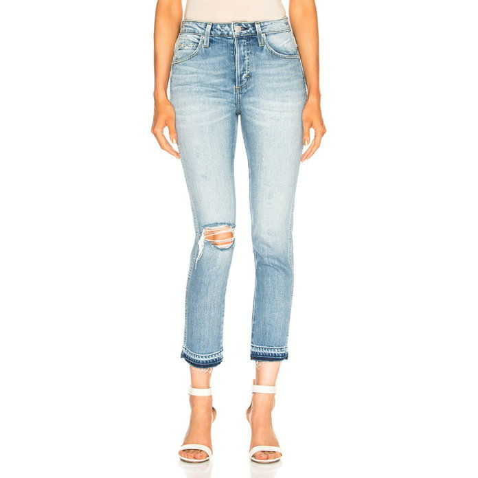 маце Straight Cropped Jeans