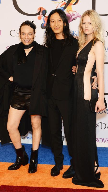 Chris Kattan, Alexander Wang and Anna Ewers attend the 2014 CFDA fashion awards
