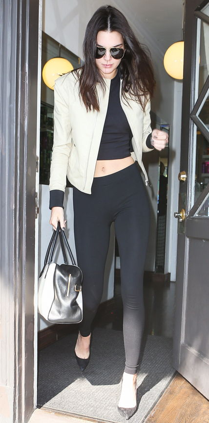 Kendall Jenner looking stunning leaving the salon **USA ONLY**
