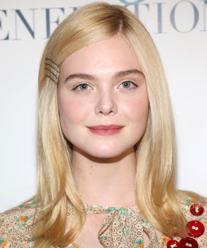 Elle Fanning's Exposed Bobby Pins