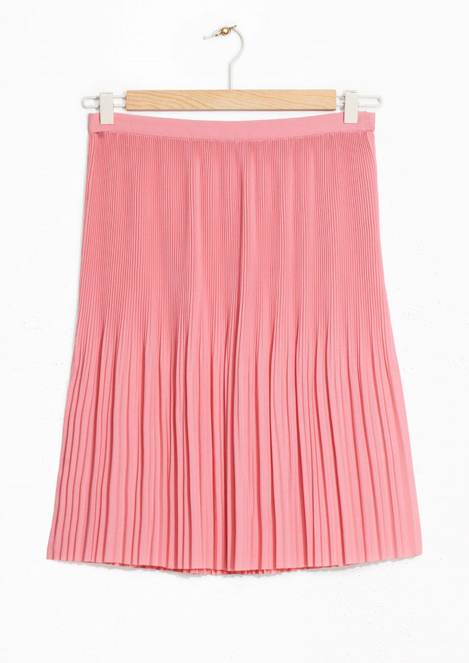 мини Pleats Crepe Skirt
