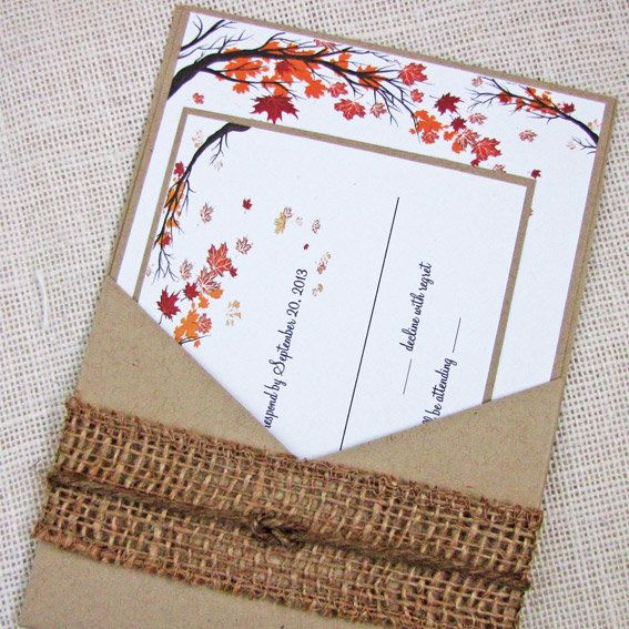 Χειροποίητο Fall Wedding Invitation