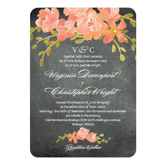 Πίνακας Floral Wedding Invitations