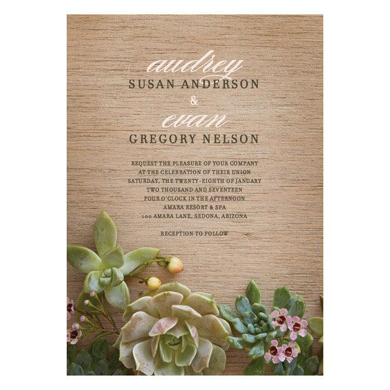Φυσικός Affection Wedding Invitation