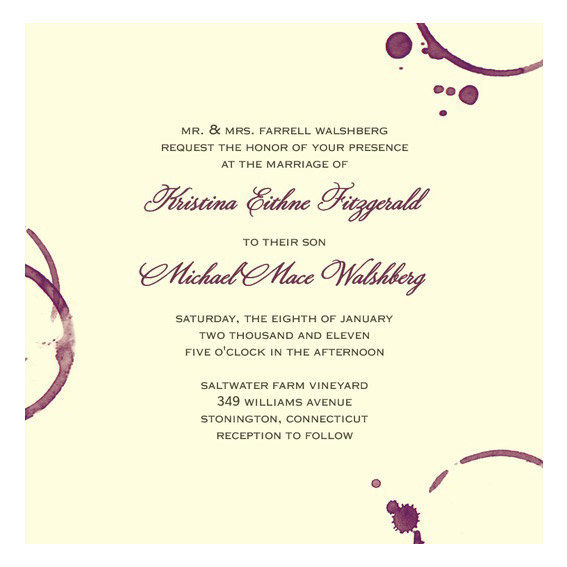 Μοντέρνο Vineyard Wedding Invitation