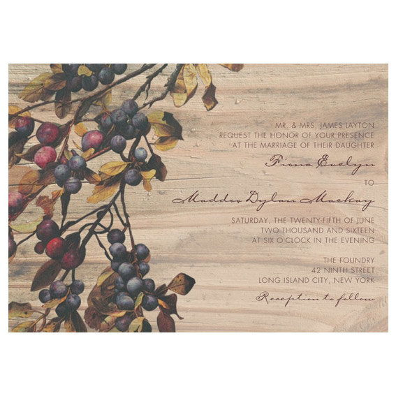 Αγροτικός Vineyard Wedding Invitation