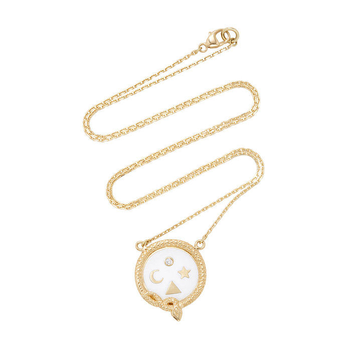 пълнота Petite Champleve Stationary Necklace