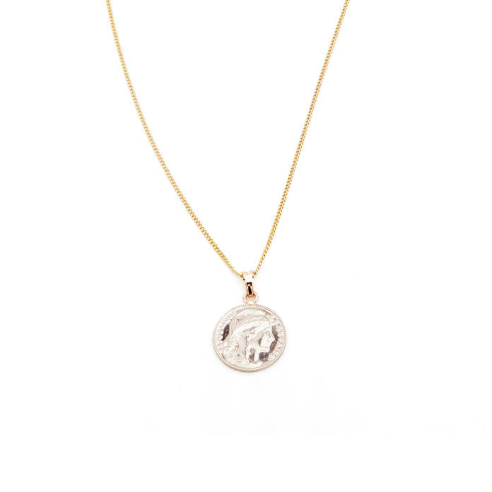злато Mini Lucky Coin Pendant