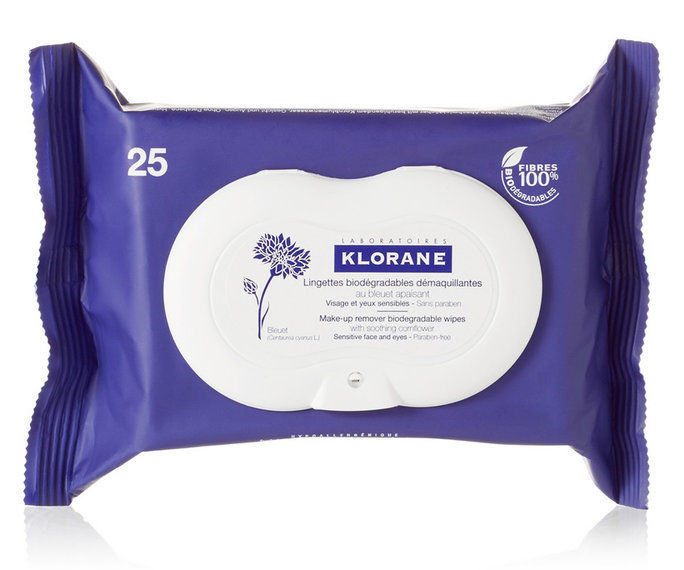 Ευαίσθητος Skin: Klorane Makeup Remover Biodegrable Wipes With Soothing Cornflower