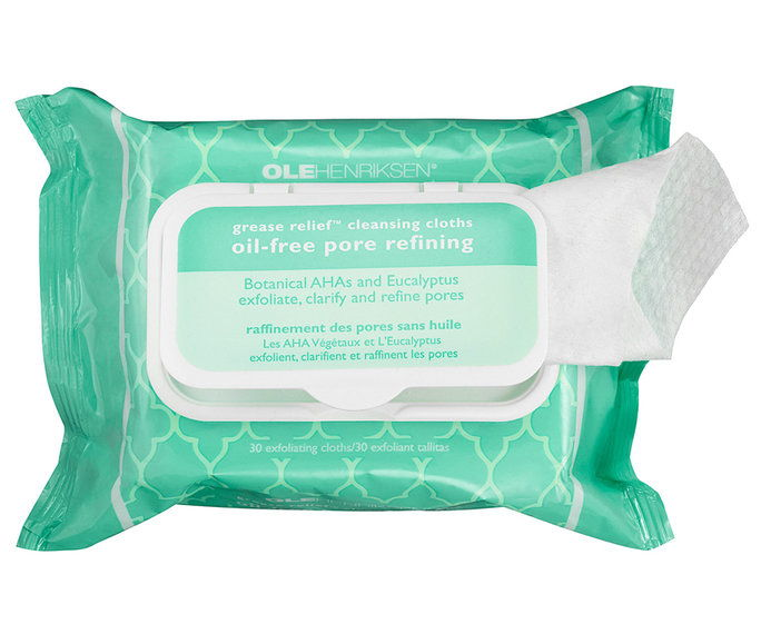 Oliy Skin: Ole Henriksen Grease Relief Cleansing Cloths: Oil-Free Pore Refining