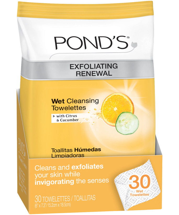 ΕΝΑ Good Scrub: Pond's Exfoliating Renewal Wet Cleansing Towelettes