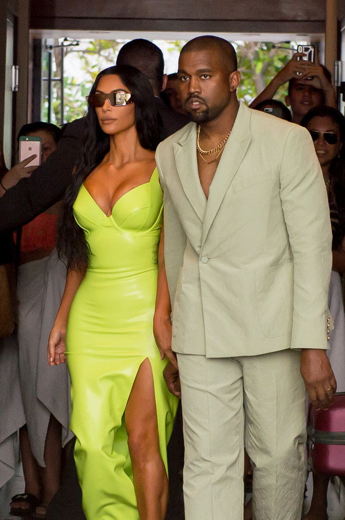 Ким Kardashian and Kanye West