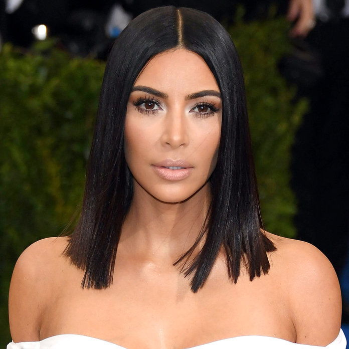 Κιμ Kardashian's Super Sleek Lob