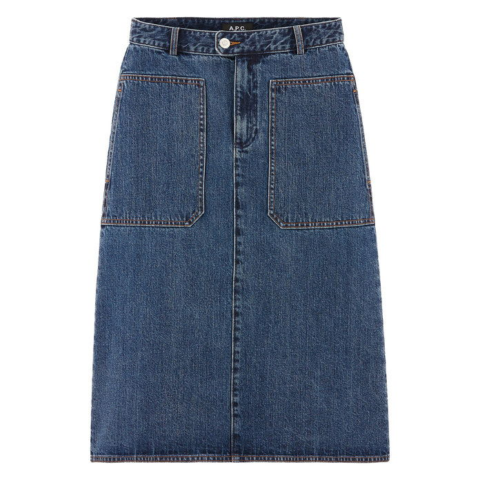 THE DENIM A-LINE SKIRT