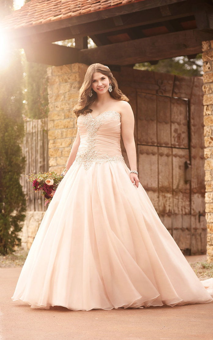 Ροζ Princess Wedding Dress