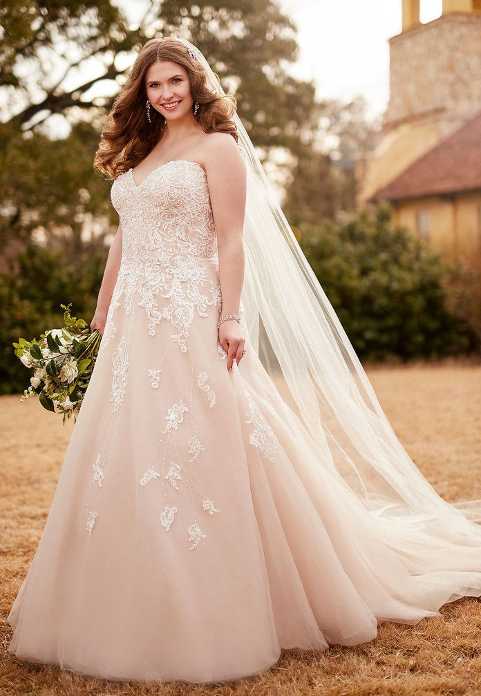 Ρομαντικός Tulle A-Line Wedding Dress