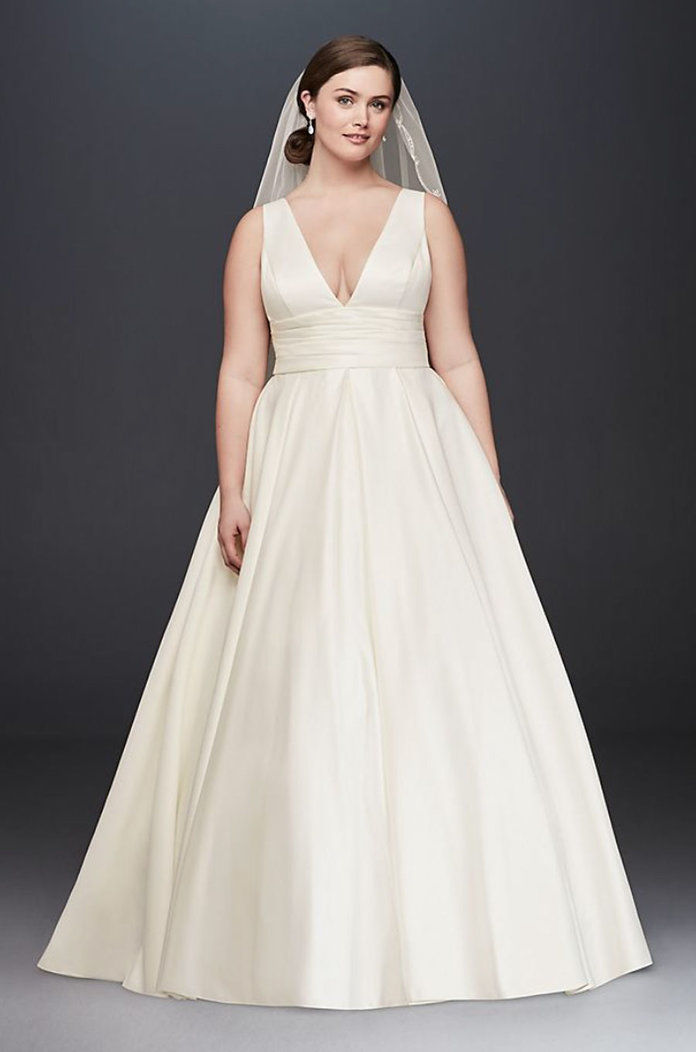 Σατέν Cummerbund Wedding Dress