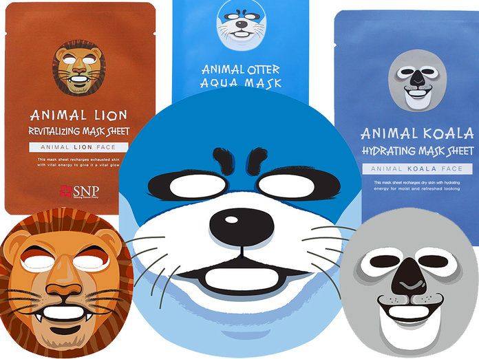 ANIMAL тематика BEAUTY FACIAL MASKS