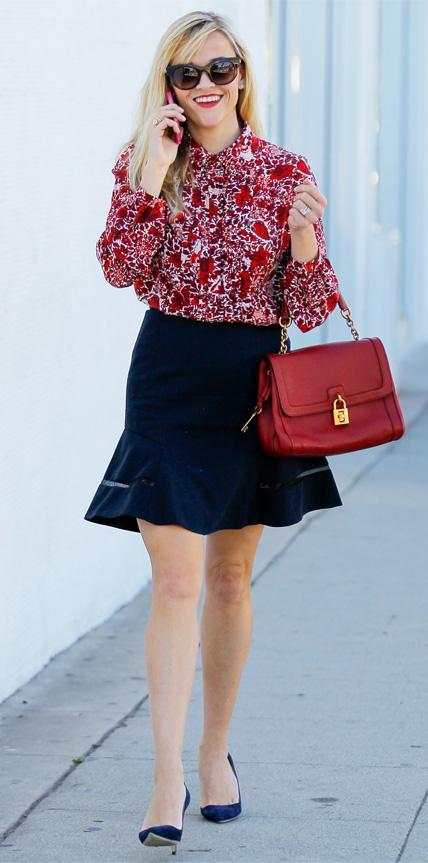 Reese Witherspoon in Tory Burch