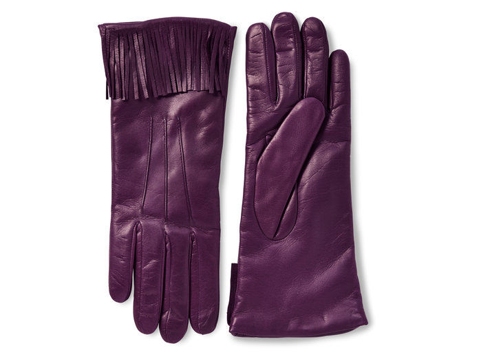 Μωβ Fringe Gloves
