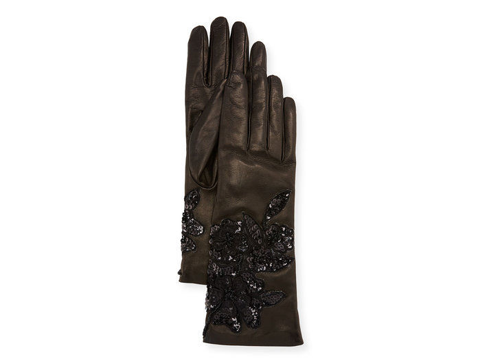 Πούλια Leather gloves