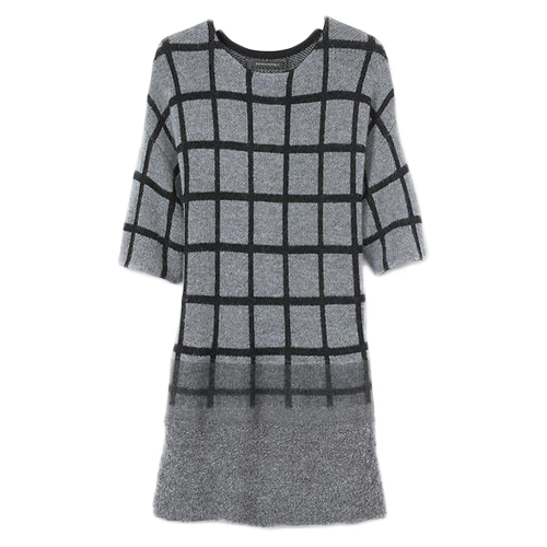 банан Republic plaid sweater dress