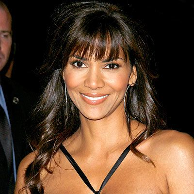 Halle Berry - Blunt soft bangs with long loose curls