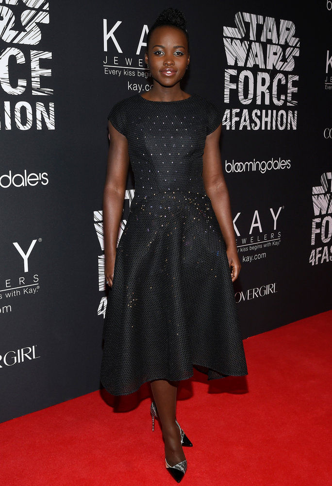 Лупита Nyong'o in Zac Posen x Google on Dec. 2, 2015