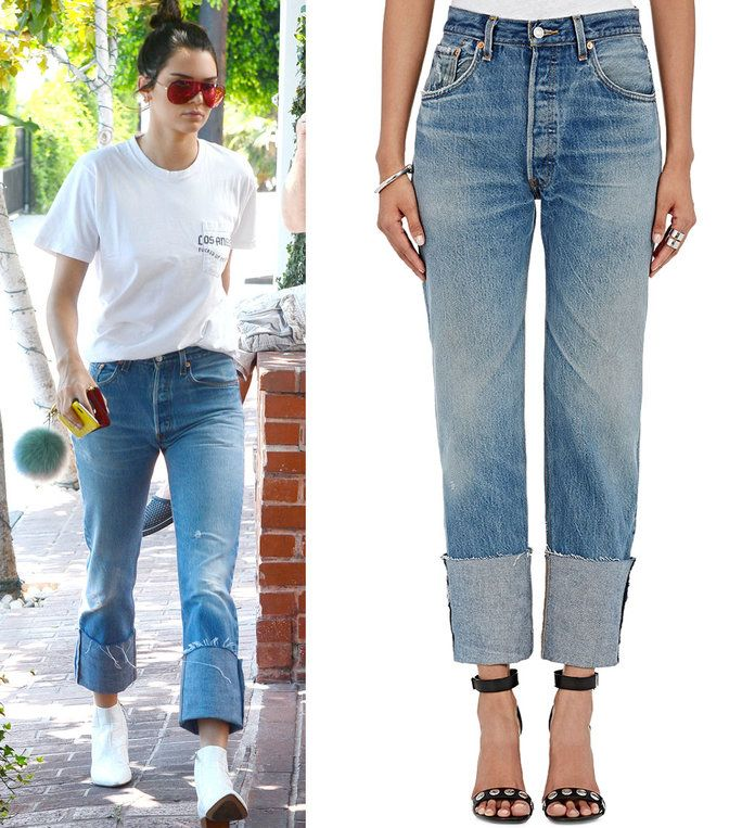 Κένταλ Jenner in Re/Done jeans