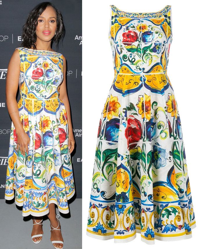 Kerry Washington in Dolce & Gabbana dress