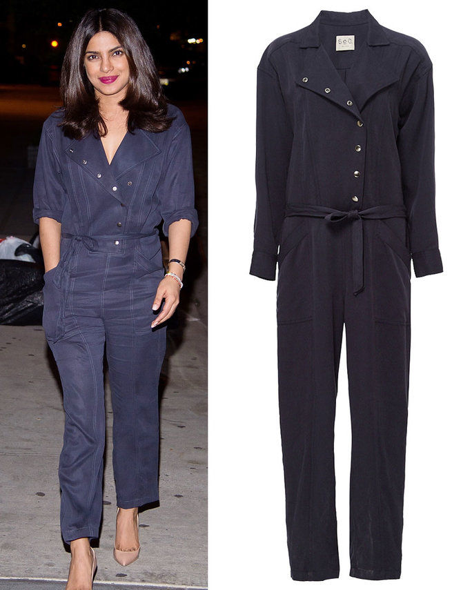 Priyanka Chopra in Sea New York jumpsuit