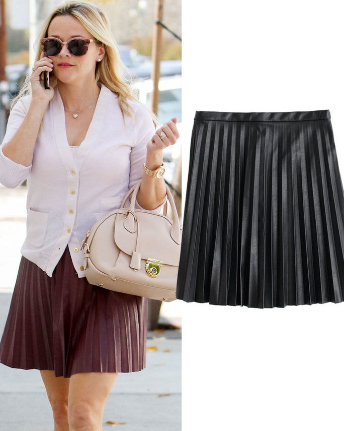 Reese Witherspoon in J. Crew skirt