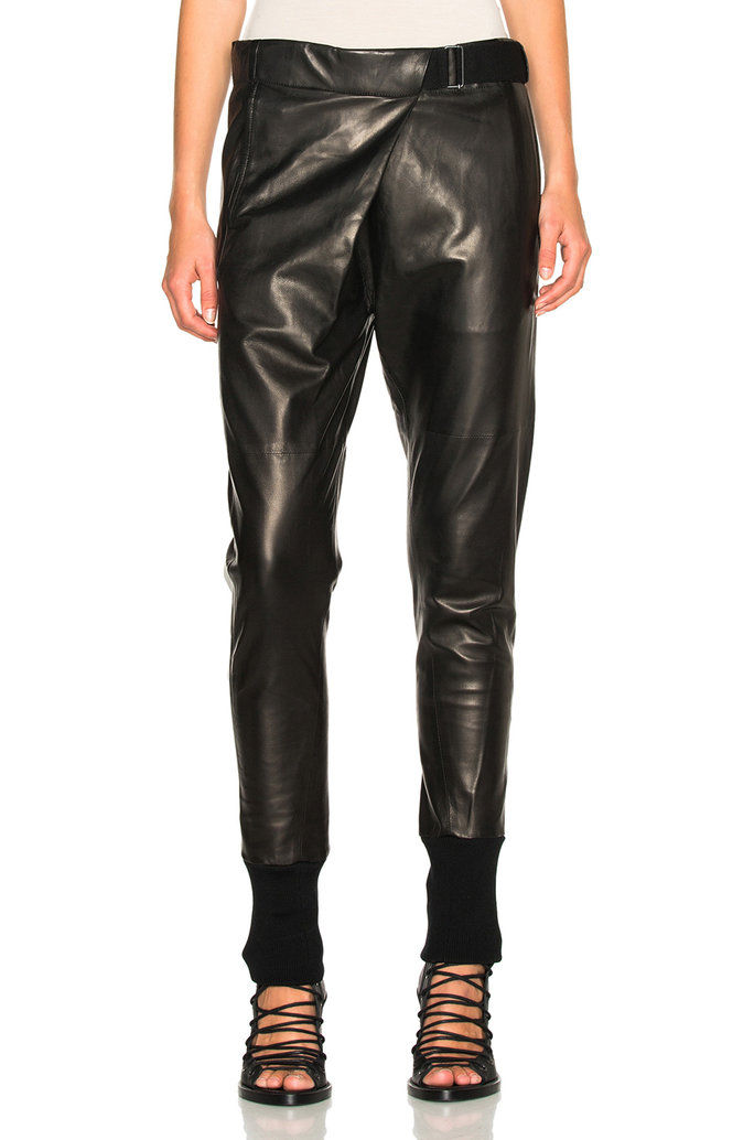 АНН DEMEULEMEESTER Leather Trousers