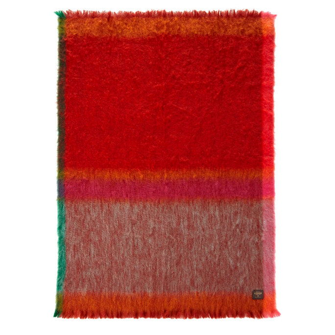 Μάντα Ezcary Rozco Red/Orange Mohair Throw
