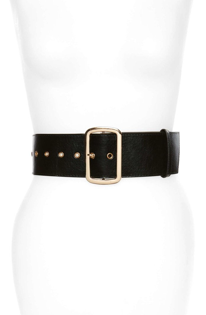 Най- Accessory Collective Square Buckle Faux Leather Belt