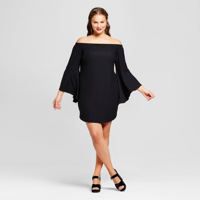 Οχι Comment Off the Shoulder Dress